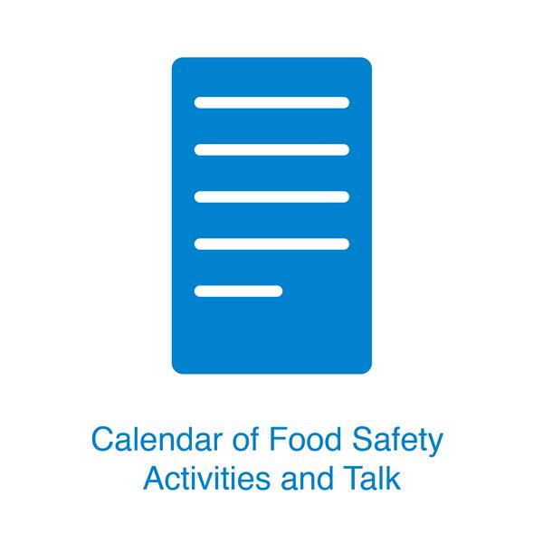 Calendar of 2019 Food Safety Education & Training (Chinese Version Only)