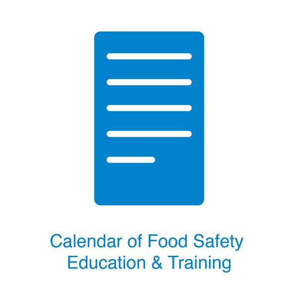 Calendar of 2020 Food Safety Education & Training (Chinese Version Only)