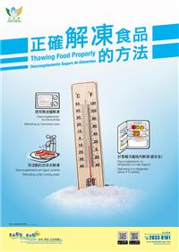 Thawing Food Properly (Poster)