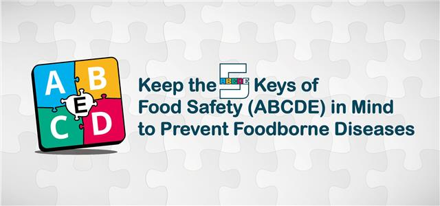 Keep the 5 Keys of Food Safety (ABCDE) In Mind to Prevent Foodborne Diseases